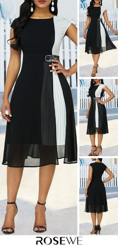 The True to You Color Block dress is loyally devoted to keeping you looking good! Modest Clothing, Modest Dresses, Modest Outfits, Cute Dresses, Beautiful Dresses, Casual Dresses, Summer Dresses, Elegant Dresses, Muslim Fashion