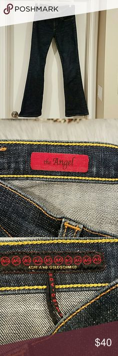 AG THE ANGEL JEANS EUC Like new! The angel jeans by Adriano Goldschmied, one of my fave jeans by the designer. Size 28R. 31 inseam. Rise is 8. Waist measured straight across lying flat is 14 1/2. Ag Adriano Goldschmied Jeans