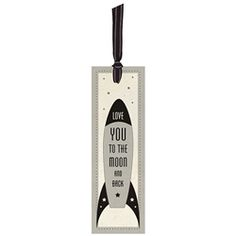 Love You Stars Bookmark with Ribbon Tie