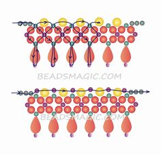 pattern for beaded necklace City - 2-----------U need Pearl beads 3mm, 6mm, 8mm, Drops, Seed beads 11.