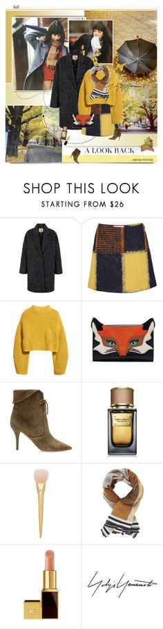 """Yellow Leaves"" by rainie-minnie ❤ liked on Polyvore featuring Nana', Lipsy, Marni, H&M, Aquazzura, Dolce&Gabbana, BCBGMAXAZRIA and Tom Ford"