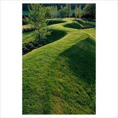 Serpentine grass path at The Wrekin garden - GAP Photos