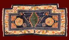 ANTIQUE TIBETAN SADDLE , ANTIQUE CHINESE AND TIBETAN RUGS_141306437122