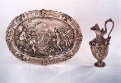 VIANEN, Paulus van Ewer and basin 1613 Silver, ewer: height 34 cm, basin: 52 x 41 cm Rijksmuseum, Amsterdam