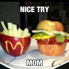 How totally creative. McDonald's look - but healthy food!