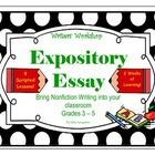 This is a bundle of lessons that teaches how to write Expository Lessons. The 9 lessons take you through brainstorming, drafting, revision, and edi...