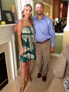 My daughter, Erika, and her husband, George, on their way out to a wedding.