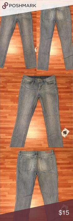 "👖Articles of Society👖Zoey Crop Skinny Jeans A Great Pair Of-Articles Of Society- Zoey Crop Skinny Jeans, With An Indio Distressed Wash Tag Size 28, But Measured At 29x28 With A 8"" Rise. In Good Used Condition. Articles Of Society Jeans Ankle & Cropped"