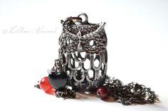 Ketten lang - ✼ Dark Owl ✼ Kette - ein Designerstück von LiAnn-Versand bei DaWanda