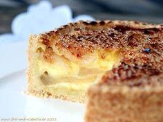 Karamellisierter Apfel-Pudding-Kuchen #backen #Kuchen #cakes