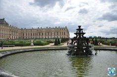 The Palace of Versailles with its gardens from the south-west part of Paris, France's capital, is a museum and one of the most popular attractions from this romantic capital