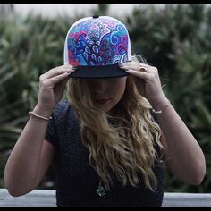 Bohemian Style Hand Painted Custom Hat by Manik Apparel Get your own custom at www.manikapparel.com Hippie Bohemian, Bohemian Style, Boho, Painted Hats, Hand Painted, Custom Hats, Beach Photos, Snapback Hats, Photoshoot