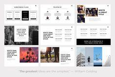 Ghost Minimal Keynote Template by SlidePro on @creativemarket