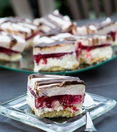 Pianka malinowa z galaretką/ ciasto z malinami bez pieczenia