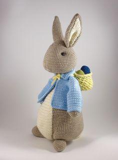 Crochet Bunny Pattern, Crochet Rabbit, Crochet Patterns, Easter Projects, Easter Crafts, Amigurumi Toys, Amigurumi Patterns, Big Bunny, Easter Crochet