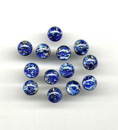 Beautiful 9mm Sapphire Sea Blue Fire Opals, Man-made Opal glass crystals, 6…