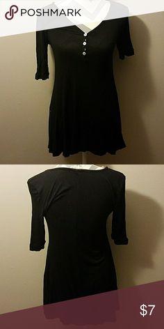 Long black tunic Long black tunic. Size small. Tops Tunics
