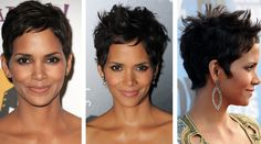 Do You Like Halle Berry's Hair Tousled or Tamed? Halle Berry Short Hair, Halle Berry Style, Short Sassy Hair, Cute Hairstyles For Short Hair, Pixie Hairstyles, Pixie Haircut, Short Hair Cuts, Curly Hair Styles, Natural Hair Styles