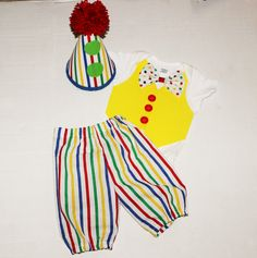 Hey, I found this really awesome Etsy listing at https://www.etsy.com/listing/201308266/babytoddler-birthday-outfit-clown