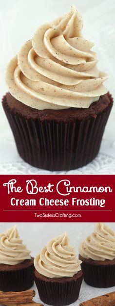The Best Cinnamon Cream Cheese Frosting is great Fall version of this classic frosting. It is super delicious and so easy to make. Sweet, creamy, spicy and so very yummy, your family will beg you to make this cinnamon cream cheese icing again and again. Top any fall treat or Thanksgiving dessert with this homemade frosting. Follow us for more great Frosting Recipes!