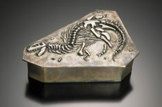 Cretaceous Box - created from silver metal clay.