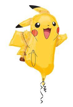 Pokemon Helium Folien Ballon Pikachu Glumanda Shiggy Kinder Geburtstag Junge Boy