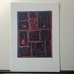 "Lino print ""Florist"""