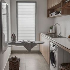 The ultimate laundry design guide! above washer and dryer small laundry rooms Laundry Room Design: The Ultimate Guide! Room Makeover, Room Design, Laundry Mud Room, Laundry Room Diy, Room Diy, Room Inspiration, Build Your House, Laundry
