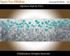Painting oil abstract painting wall decor home by QiQiGallery