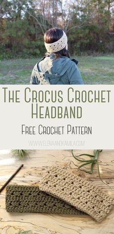The Crocus Headband Free Crochet Pattern. Easy Crochet pattern perfect for beginners. Crochet Simple, Quick Crochet, Free Easy Crochet Patterns, All Free Crochet, Crochet Ideas, Crochet Ear Warmer Pattern, Crochet Headband Pattern, Beginner Crochet Projects, Crochet For Beginners