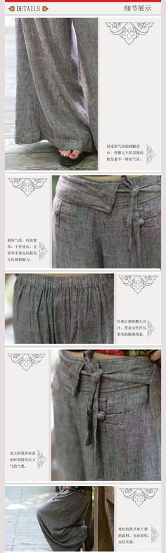 Simple Linen Pants All match Wide Leg Pants Women Loose Plus Size Trousers D379-in Pants & Capris from Women's Clothing & Accessories on Aliexpress.com | Alibaba Group