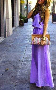 Lilac dresses....if i could wear long dresses w/out looking shorter.. This is such a great color!