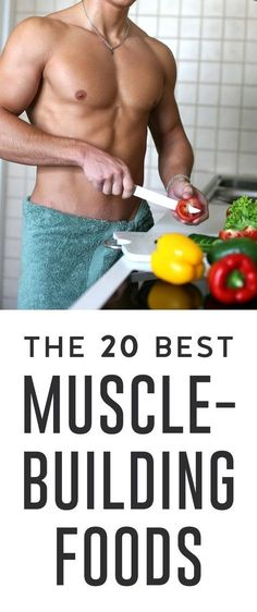 Ready to build muscle? Include these expert-recommended foods in your muscle building diet to ensure that your time spent in the gym isn't a waste of sweat. How To Gain Muscle, Eating To Gain Muscle, Build Muscle, Best Muscle Building Foods, Muscle Building Workouts, Workout Plan For Men, Weekly Workout Plans, Health Foods, Health Tips