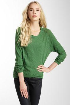 Get comfy. | American Vintage Scoop Neck Long Sleeve Sweater