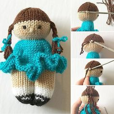 African Comfort Doll pattern by William Willabond Ravelry: . - African Comfort Doll pattern by William Willabond Ravelry: estherjoy's Izzy Doll - Knitted Doll Patterns, Knitted Dolls, Crochet Dolls, Knitting Patterns Free, Knit Crochet, Crochet Patterns, Free Knitting, Knitted Heart Pattern, Knitted Bunnies