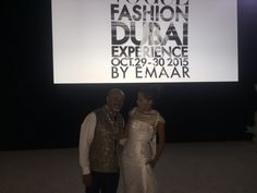 Christian Louboutin and Susana Traça at Vogue Dubai Fashion Experience