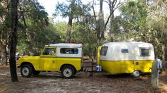 1960 Land Rover Series and 1976 Boler travel trailer