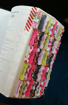 Diy Bible Tabs | Handwritten | Bible Journaling | Bible Study | Washi, so they're not permanent & done with a 2in tag/lable punch