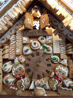 relógio biscoito feliz do OPa' s Haus