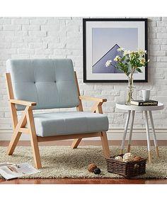 Gray Sandy Mid-Century Danish Linen Armchair