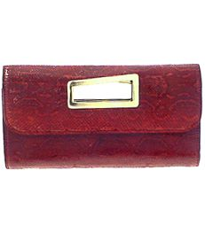 Sale Deal - Burgundy genuine Python snake skin Clutch Bag with gold plated metal handle only $625.00 on sale