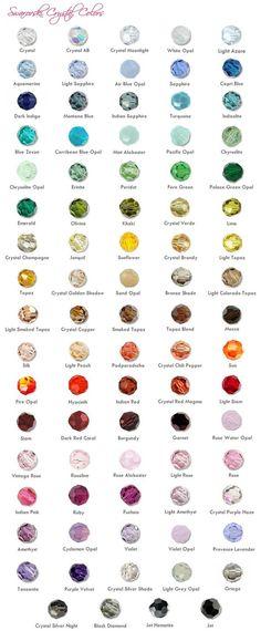 Swarovski Crystal Colors