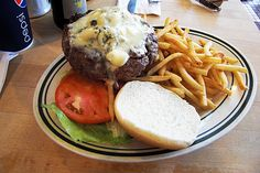 blue cheese burger fries - Google Search