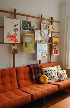 Créez une décoration en perpétuelle évolution. | 19 façons d'immortaliser la créativité de vos enfants