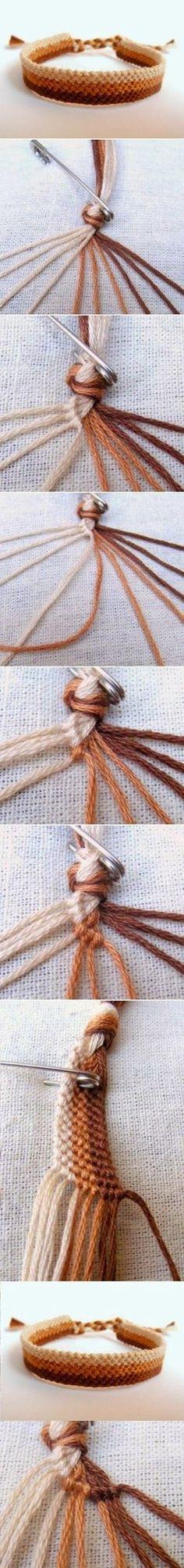 Diy easy weave bracelet diy crafts tutorials diy by bleu Bracelet Crafts, Jewelry Crafts, Crochet Bracelet, Woven Bracelets, Braclets Diy, Knotted Bracelet, String Bracelets, Slap Bracelets, Charm Bracelets