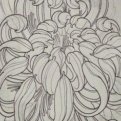 chrysanthemum tattoo flash - Google Search