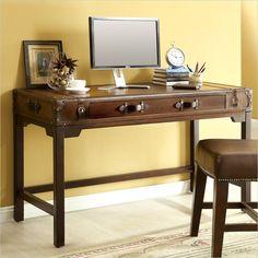 Latitudes Suitcase Writing Desk in Aged Cognac Wood