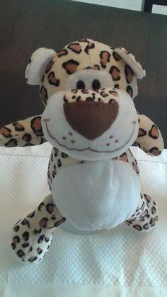 "Circus Circus Plush Stuffed Leopard 13"" --Smiley Face & Fat Tummy-- Ages 3+ #CircusCircus"