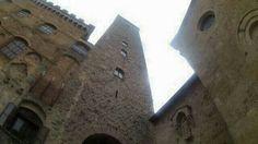 San Gimignano türme Mittelalter Altstadt toscana piazza Manhattan of middle age Geschlechtertürme