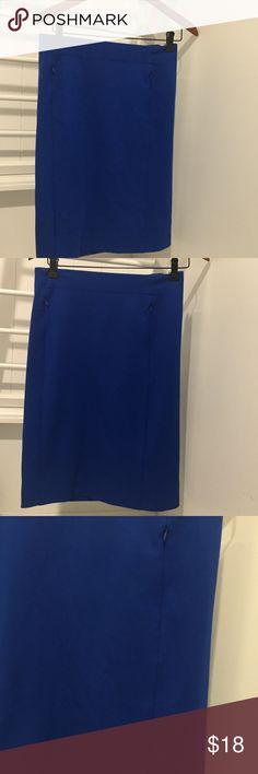 DIANE VON FURSTENBERG ELECTRIC BLUE PENCIL SKIRT 6 Gently used Diane Von Furstenberg Skirts Pencil